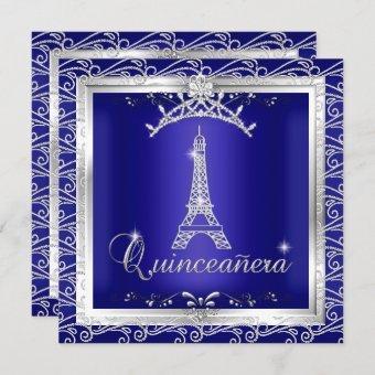 Royal Blue Silver Tiara Eiffel Tower 2