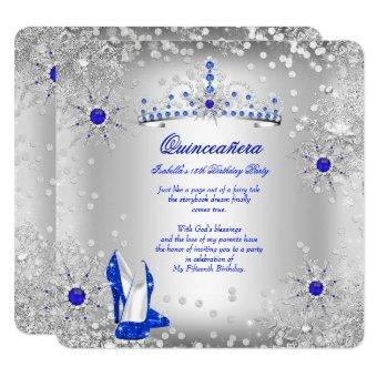 Royal Blue Silver Winter Wonderland