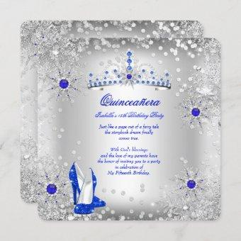 Royal Blue Silver Winter Wonderland