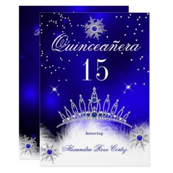Royal Blue Snowflake 15th Birthday