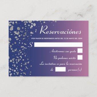 Royal Pink Silver Spanish Reservacion