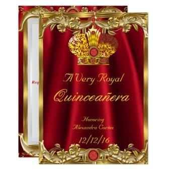 Royal Red Gem Gold Princess Crown 2