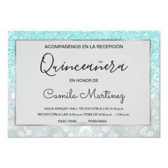 RSVP Teal Blue Girly Glitter Sparkle