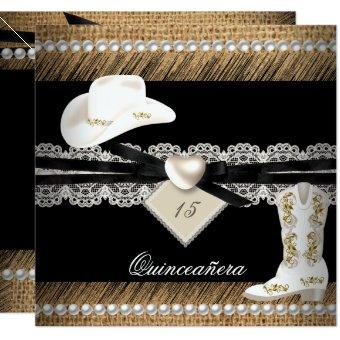 Rustic Burlap Cowgirl Hat Boots Party