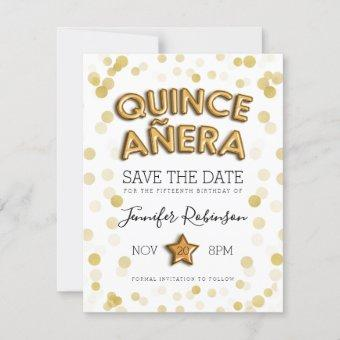 Save The Date Gold Balloons Glitter
