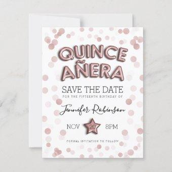 Save The Date Rose Gold Balloons