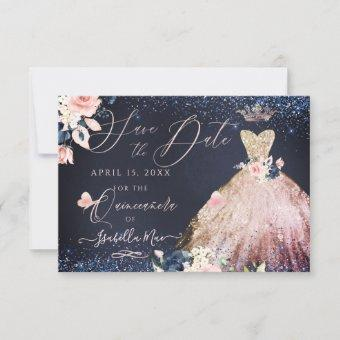 Save the Date Rose Gold Ombre Gown