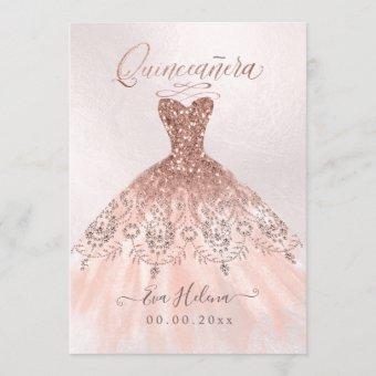 Quinceañera, Sparkle Gown, Faux Rose Gold