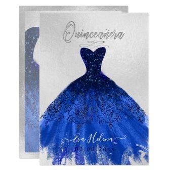 Quinceañera , Sparkle Gown, Navy Blue