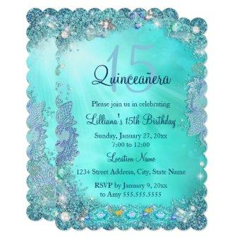 Teal Quinceanera Invitations Quinceanera Invitations