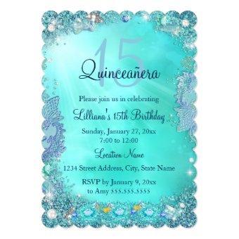 Teal Blue Ocean Jewel Birthday Party