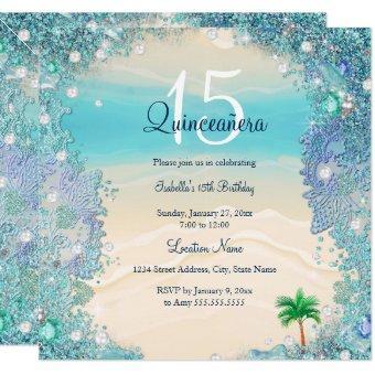 Teal Blue Sand Ocean Beach Birthday 2