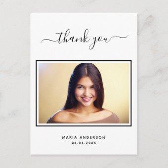 thank you custom photo black white post