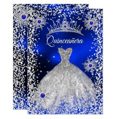 Tiara Dress blue winter Snowflake