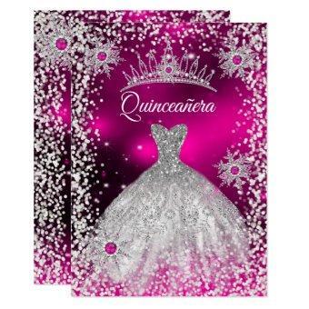 Tiara Dress Pink winter Snowflake