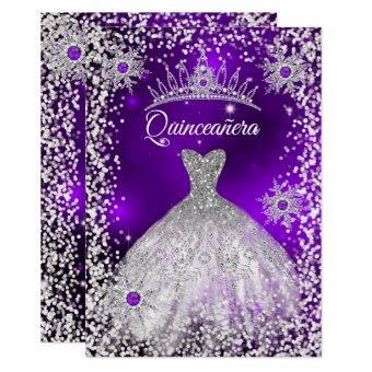 Tiara Dress purple winter Snowflake