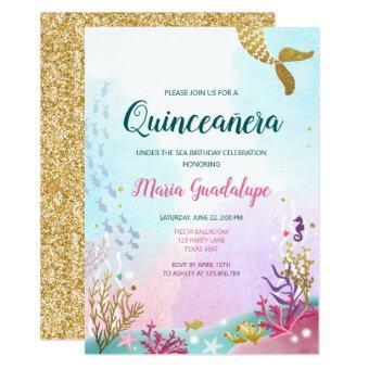 Quinceañera Under the Sea Mermaid Ocean Birthday