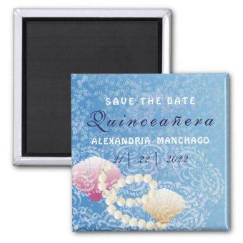 under the sea Save the date shells Magnet