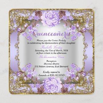Vintage Country Floral Lavender Purple