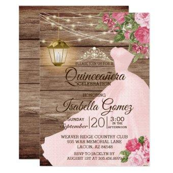 Quinceañera Wood and Pink Mauve Flowers