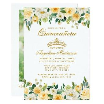 Yellow Gold White Floral Crown Photo