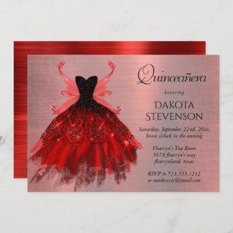 Radiant Iridescent Red Fairy Wing Gown