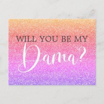 Rainbow Glitter Dama Proposal Post