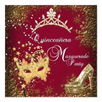 red/burgundy Masquerade 15th Party