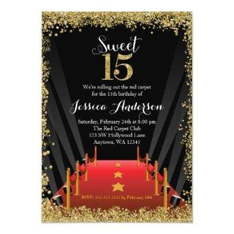 Red Carpet Hollywood Glitter Sweet 15