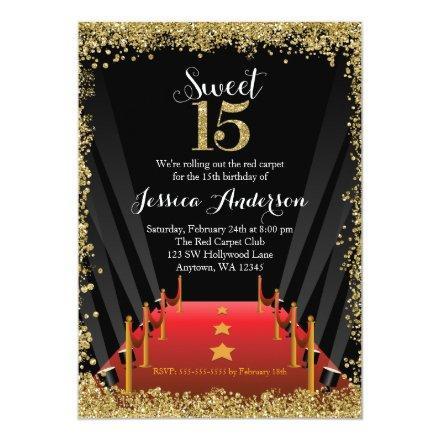 Red Carpet Hollywood Glitter Sweet 15