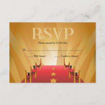 Red Carpet Hollywood Star RSVP