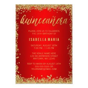 Red Quinceanera Invitations Quinceanera Invitations