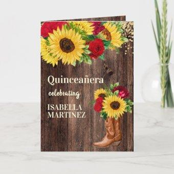 Red Roses Sunflowers Cowgirl Boots
