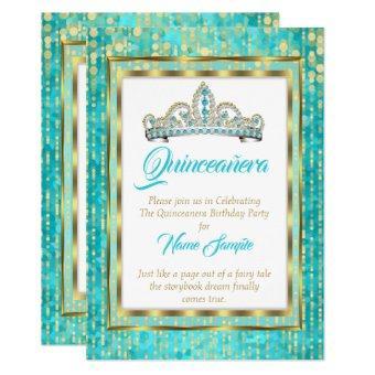 Regal Princess Blue Teal Gold White