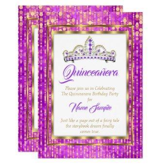Regal Princess Purple Gold White
