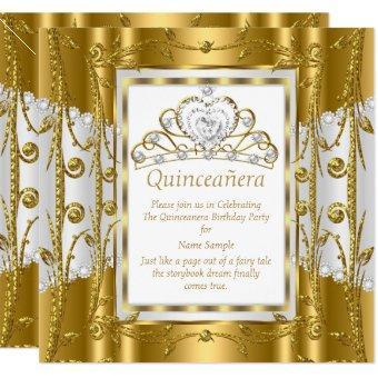 Regal Princess 15th Gold White Tiara