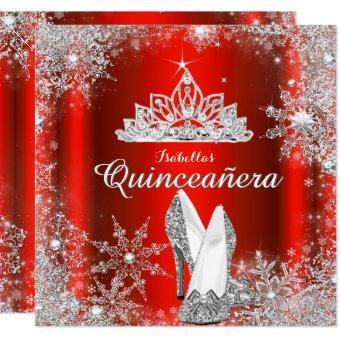 Regal Red Silver Tiara 15th Birthday