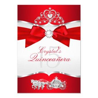 Regal Red Silver Tiara Pearl Bow