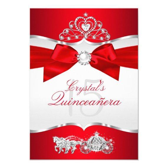 Regal Red Silver Tiara Pearl Bow
