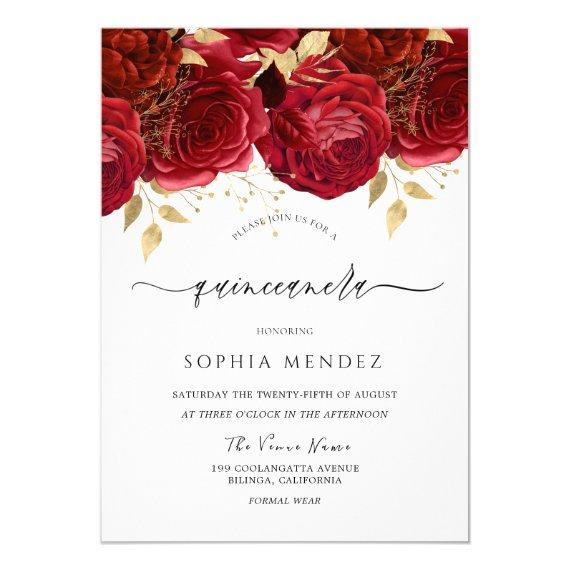Romantic Red Roses Elegant Party