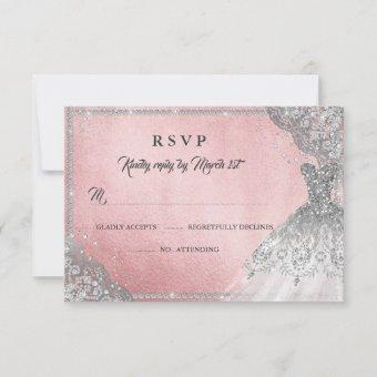 Rose Gold Diamond Sparkle Gown RSVP