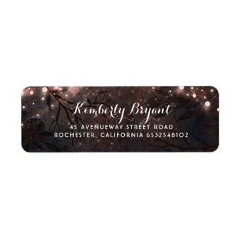 Rose Gold Glitter and Rustic Wood Label