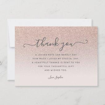 Rose gold glitter blush pink thank you Birthday