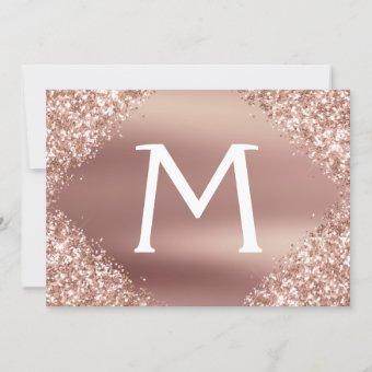 Rose Gold Glitter Save the Date