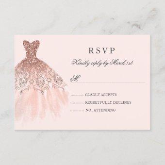 Rose Gold Sparkle Dress RSVP