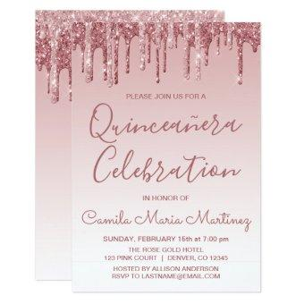 Rose Gold Sparkle Glitter Celebration