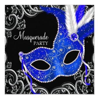 Royal Blue and Black Masquerade Party