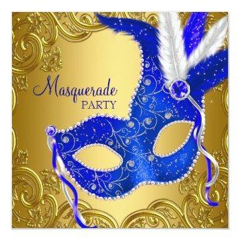 Royal Blue and Gold Masquerade Party