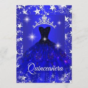 Royal Blue Dress Sparkle Tiara Stars