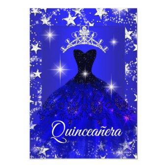 Royal Blue Dress Sparkle Tiara Stars